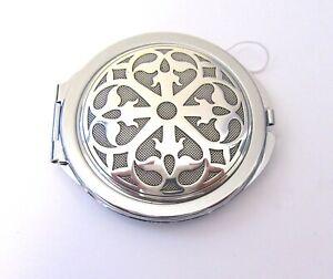 Brighton  Compact Mirror- round- silver- color mesh look - beautiful design