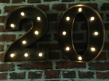 LED CARNIVAL 20  BIRTHDAY ANNIVERSARY CELEBRATION NUMBERS  METAL LARGE 33 CM.