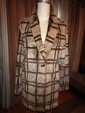 Women's Rabbit Fur Plaid Shaved Coat