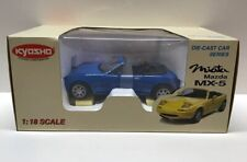 Kyosho Mazda Miata  MX-5 1:18 Scale Die-Cast Car Blue New In Box!