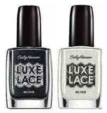 Sally Hansen Luxe Lace Ruffle 840 And Eyelet 830 Nail Color Duo Black & White
