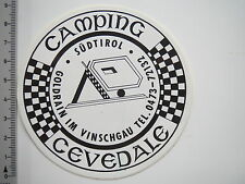 Aufkleber Sticker Camping Cevedalg - Südtirol (7470)