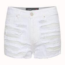 Womens High Waist Denim Jeans Ripped Vintage Summer Hot Pants Shorts