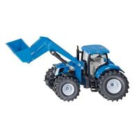 Siku New Holland T7070 Tractor With Front Loader - W 1:50 Miniature Replica Toy