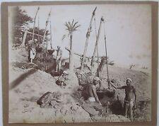 1880c CHADOUFS DE LA HAUTE ÉGYPTE Egypt foto Zangaki albumina 28x22cm shaduf
