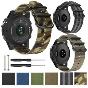 Nylon Watch Band For Garmin Fenix 3/3HR/5X/5X Plus Replacement Strap 26mm 22mm