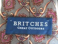 Mens Necktie BRITCHES Great Outdoors Italian Silk Tie Green and Gold Classic