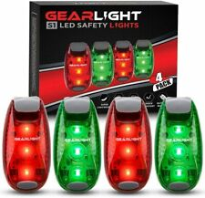 GearLight S1 LED Safety Lights [4 Pack] for Boat, Bike, Night Running & more
