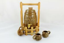 Barrel Wine IN Ceramic Miniature Cuvee Speciale. Includes Cups And Support