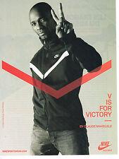 PUBLICITE ADVERTISING 094  2009  NIKE survetement vetement sport CLAUDE MAKELELE