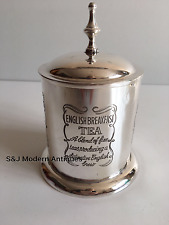 Antique Silver Plated Tea Caddy Ornate Victorian Vintage Retro Unusual EPNS Old