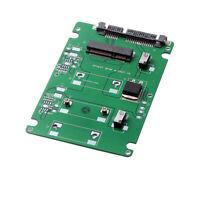 "mSATA SSD to 2.5"" SATA Hard Disk 7mm HDD Enclosure Case Converter Adapter white"