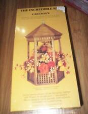 Incredible Kit Carlson's GAZEBO 1981 Wood Kit Make Manger Lamp Display piece