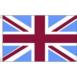 Union Jack Flag Claret & Sky Blue 5 x 3 FT  Maroon Aston Villa Burnley West Ham