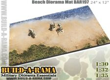 """1/30 Diorama D-Day Mat for King Country K&C LCVP First legion 24"""" Wide"""