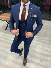 Business Men Grrom Suits Slim Fit Wedding Coat Vest Pants Set Tailored Work Wear