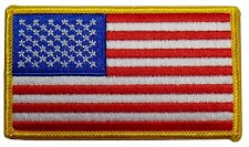 "American Flag Embroidered Patch 3.5x2"" - Patriotic Pride Usa"