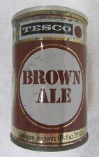 Vintage 1960's Tesco Brown Ale Beer Can 9 2/3 oz 275 ml Straight Steel Tab Bo Uk