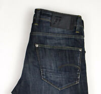 G-Star Brut Hommes Revend Jeans Jambe Droite Taille W31 L34 ASZ350
