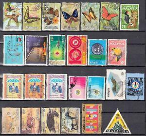E-0012 - MALESIA- Collezione di 26 francobolli differenti