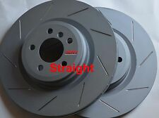 Fits Audi S4 S5 Slotted Rotors Made In Germany Front Pair 345MM