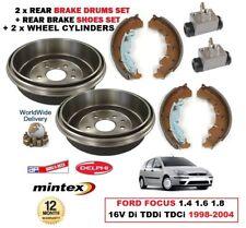 trasero freno de tambor Zapatas 2x Cilindros Ford Focus 1.4 1.6 1.8 16v DI TDCi