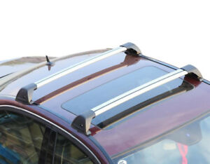 Aerodynamic Roof Rack Cross Bar for Mazda CX-9 07-15 Alloy Flush End