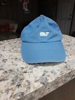 Vineyard Vines Adjustable Cap In Sky Blue Front Embrodered Whale Cotton