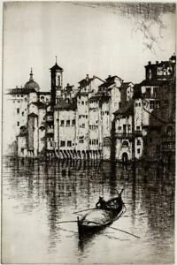 WILLIAM DOUGLAS MACLEOD (1892-1963) Signed Etching OLD HOUSES FLORENCE 1926