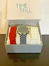 Time & Tru Ladies' Digital Silicone Interchangeable Band Watch Set