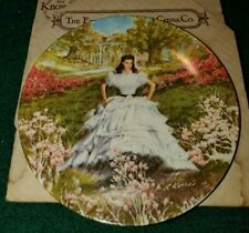 1978 1st Edition Scarlett Ohara Gwtw Gone With The Wind Plate w/Box and Coa