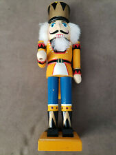 """Vintage Soldier Nutcracker Christmas Table Decoration 13"""" tall. Made in China."""