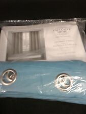 "Exclusive Home Set Of 2 Sateen Blackout Grommet Pair  52"" x 63"""
