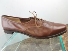 Salvatore Ferragamo Brown Leather Lace Up Oxford Italy Dress Shoes Womens 9.5