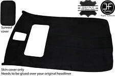 BLACK STITCH SUN ROOF HEADLINING LUXE SUEDE COVER FOR VW GOLF MK4 98-05 5 DOOR