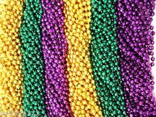 """720 33"""" New Mardi Gras Assorted Colors Beads Case Lot Free Shipping Metallic"""