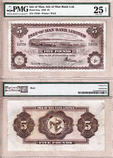 1936 Five Pounds Isle of Man Bank Limited; Douglas Bay Harbour. PMG CERT VF25