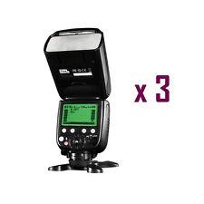 3 x Pixel X800C Pro Version Lightweight HSS GN60 Flash Speedlite for Canon DSLR