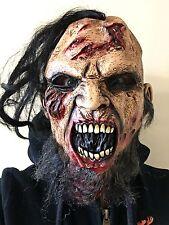 BLOODY MORTO ZOMBIE Hillbilly Maschera Piena Testa Barba Halloween Horror Costume