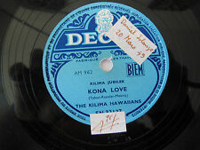 78 tours - AM 1040-Decca - Les Hawaïens Kilima - Le Saronga / Kona Love-N°93