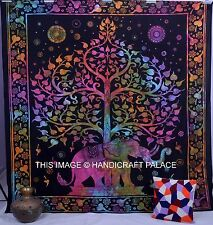 Indian Mandala Tree Of Life Wall Hanging Elephant Tapestry Throw Decor Bedspread