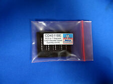CD4511 BE BCD to 7 Segment Latch Decoder Driver 16 Pin DIP - Quantity of 4 IC
