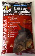 Carp Fishing Groundbait mix Strawberry Super Carp van den eynde 1kg Bag