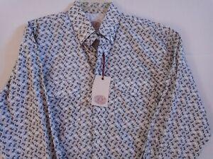 NWT Men's Gibson Trading Company Black Paisley Cotton Shirt~ Size Large