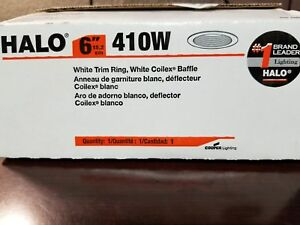 Halo 6 in. White Recessed Lighting Baffle and Trim Ring 410W ~ 1 each