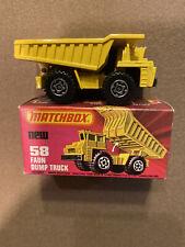 Vintage Matchbox Faun Dump Truck # 58 With Original Box