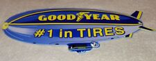"VINTAGE ""GOODYEAR TIRES ZEPPELIN / BLIMP  12"" BAKED METAL TIRE GASOLINE OIL SIGN"
