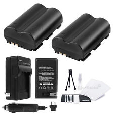 2x BP-511 Battery + Charger for Canon PowerShot G1 G2 G3 G5 G6 Pro1 Pro90