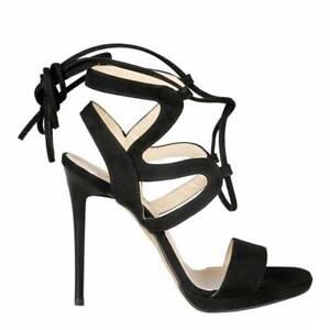 CLEARANCE SALE! Versace 19.69 Rosalie – Black Suede Stiletto Heels – 50% Off!