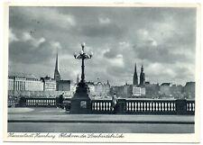AK Hamburg Blick von der Lombardsbrücke 1939